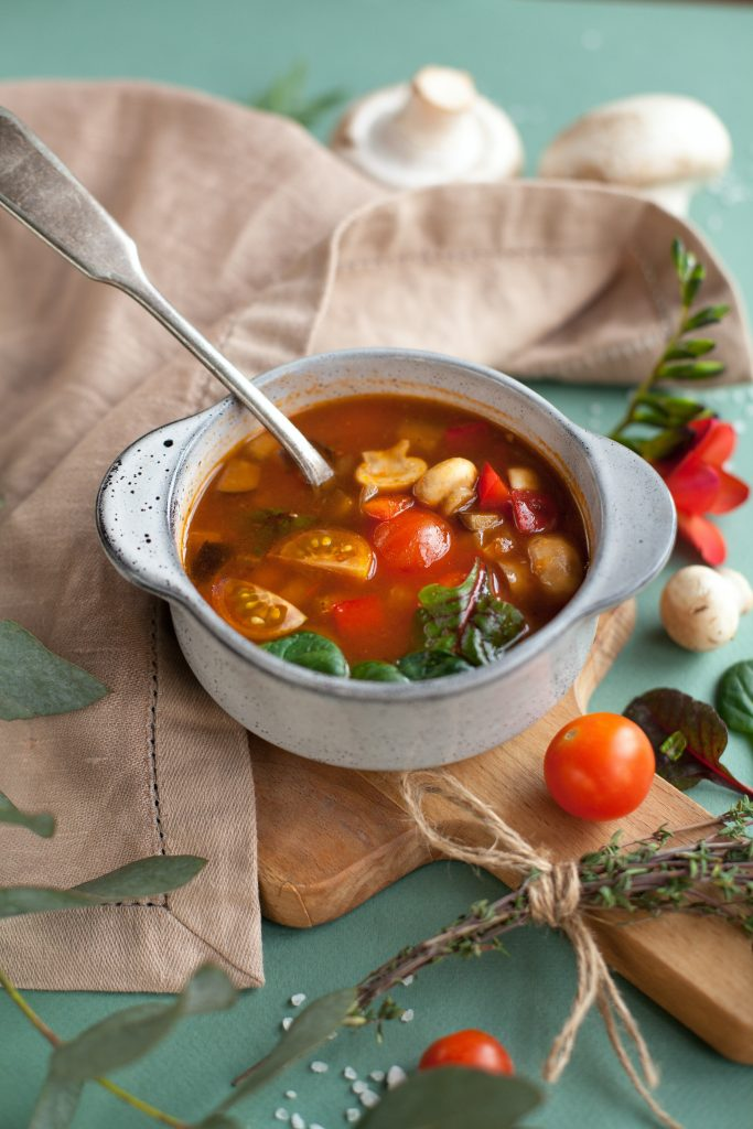 Soups are a good example of high volume foods